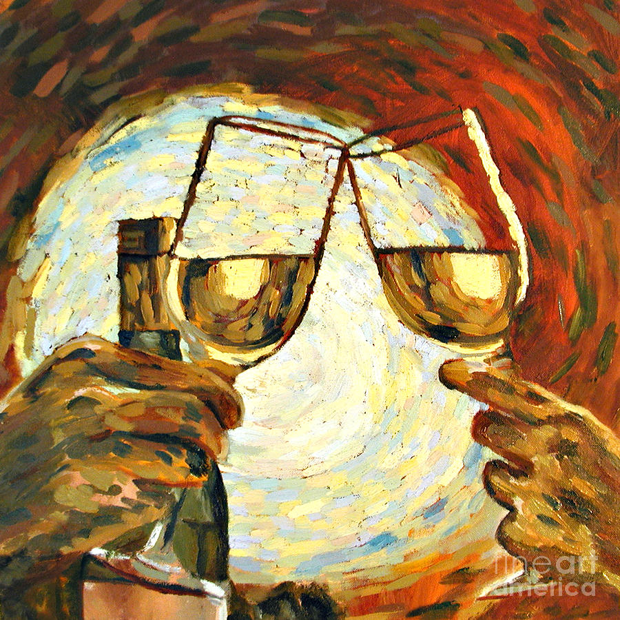 Toast Painting - Lets Toast by Donna Schaffer