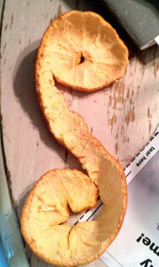 Orange Peel Photograph - Letter A-peel by Lexa Newman