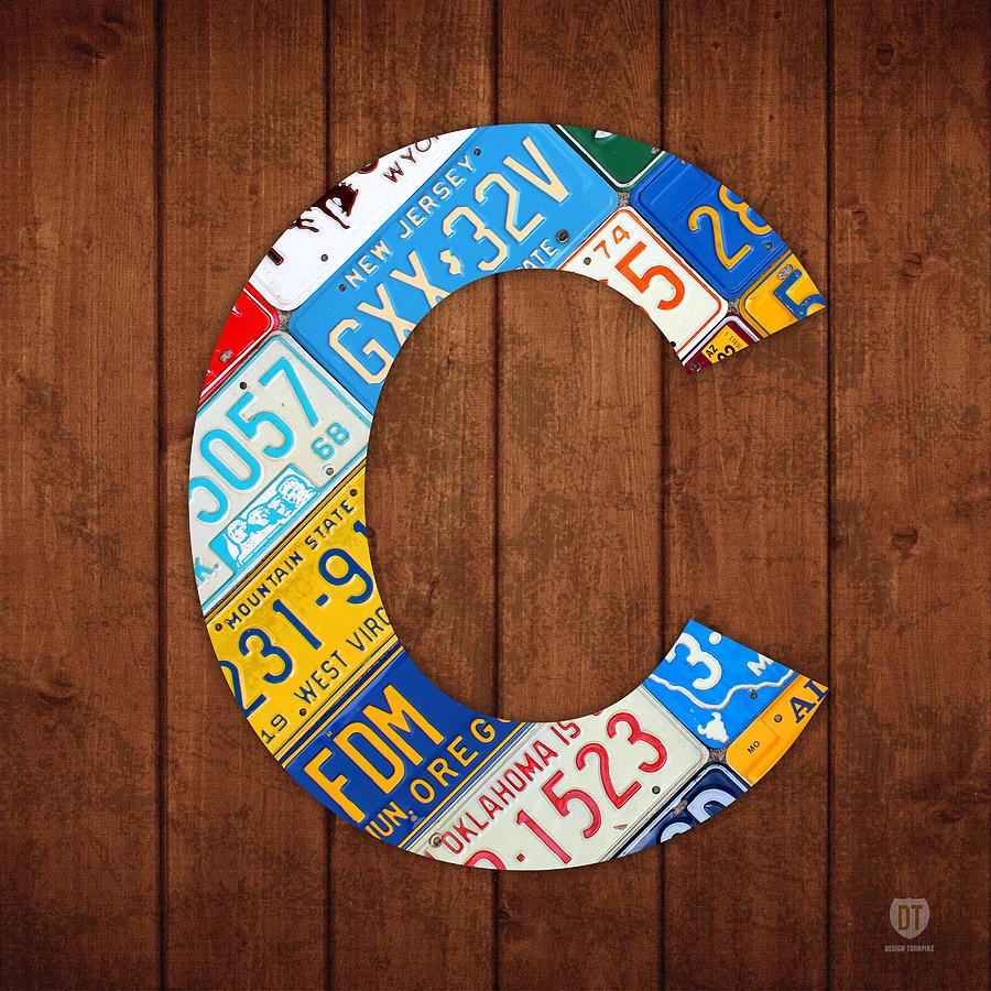 Letter Mixed Media - Letter C Alphabet Vintage License Plate Art by Design Turnpike