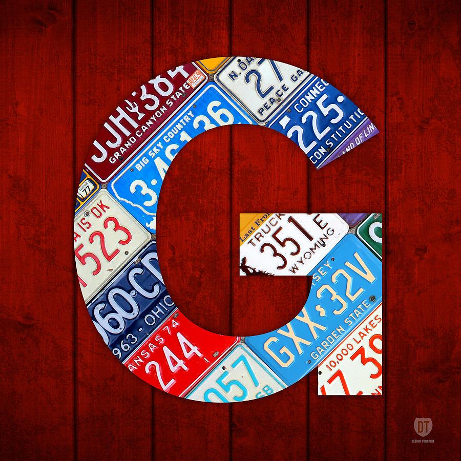 Letter Mixed Media - Letter G Alphabet Vintage License Plate Art by Design Turnpike