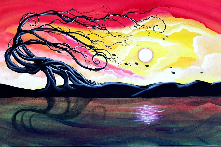 Landscape Painting - Letting Go by Angie Phillips