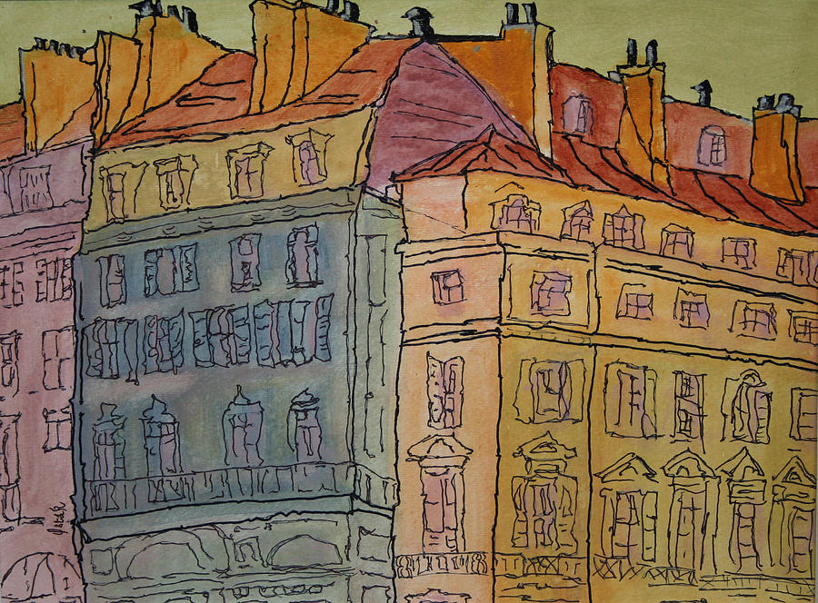 Cityscapes Painting - Leurope  by Oscar Penalber