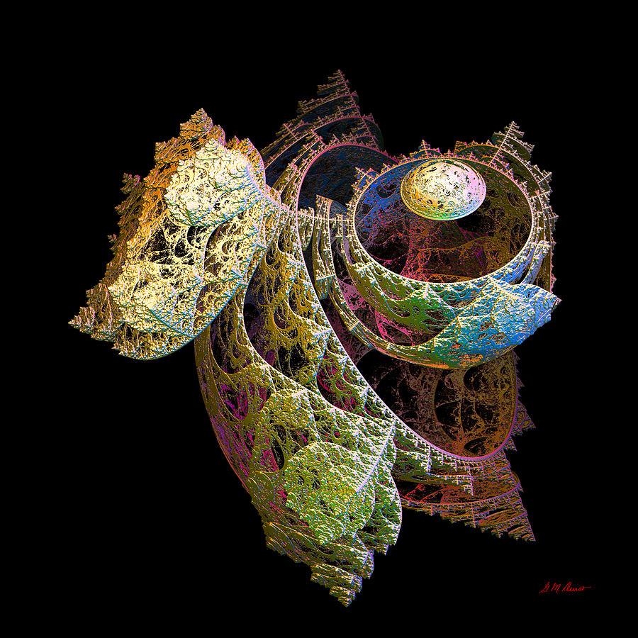 Fractal Digital Art - Levitation by Michael Durst