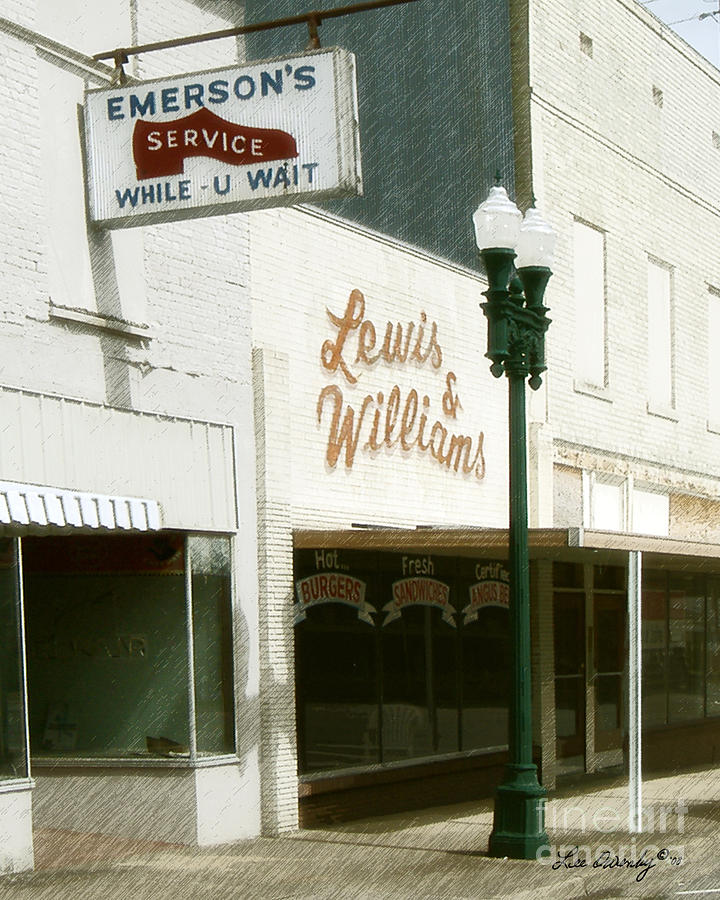 Grocery Store Photograph - Lewis And Williams by Lee Owenby