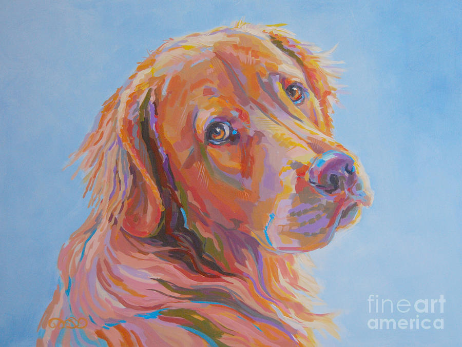 Pet Portrait Painting - Lewis by Kimberly Santini