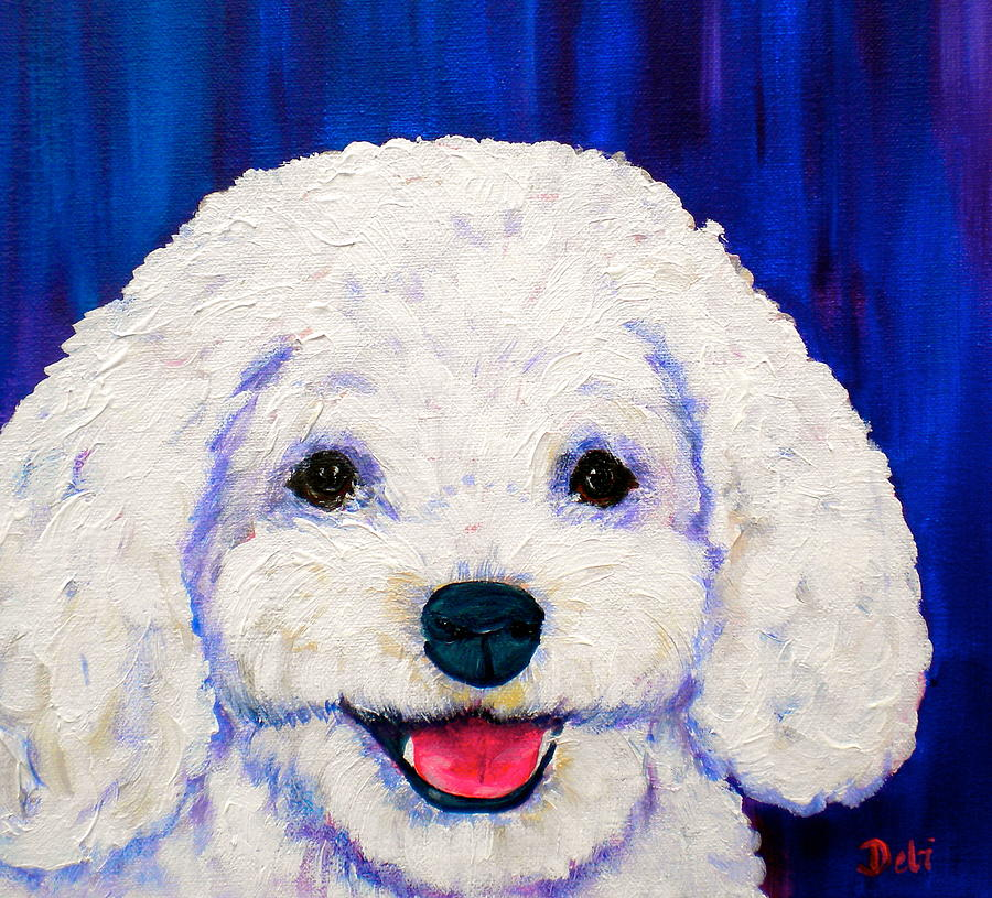 Bichon Frise Dogs Painting - Lexi by Debi Starr