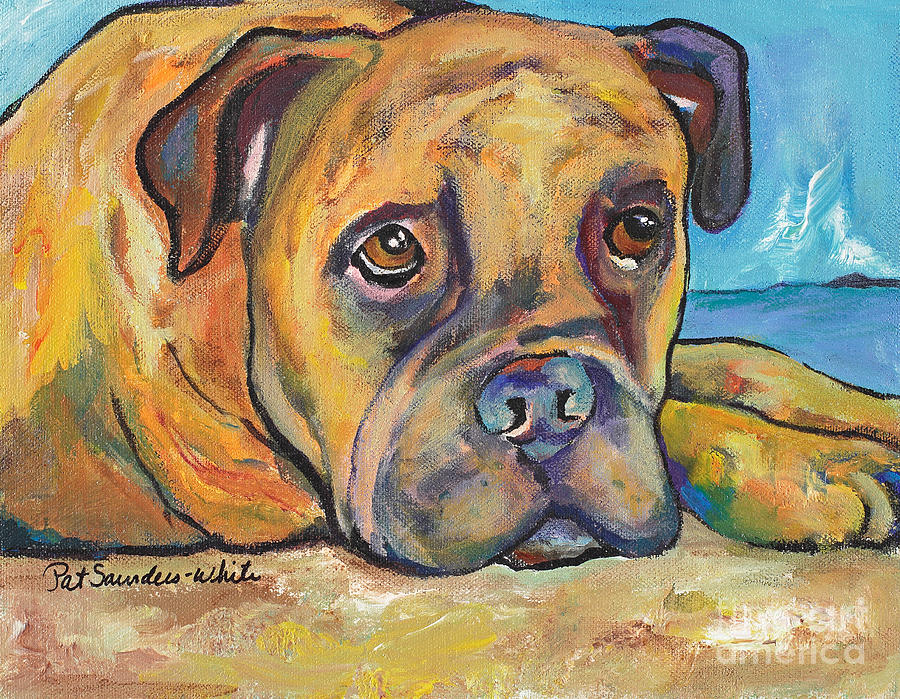 Boxer Painting - Lexie by Pat Saunders-White