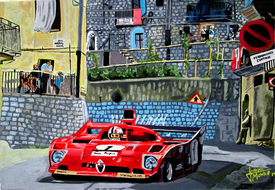 Alfa Romeo 33tt12 Nino Vaccarella Targa Florio 1975 Painting By Jose Mendez