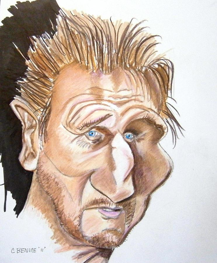 Liam Neeson Drawing - Liam Neeson by Chris Benice