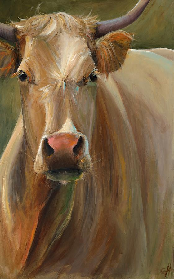 Cow Painting - Libby by Cari Humphry