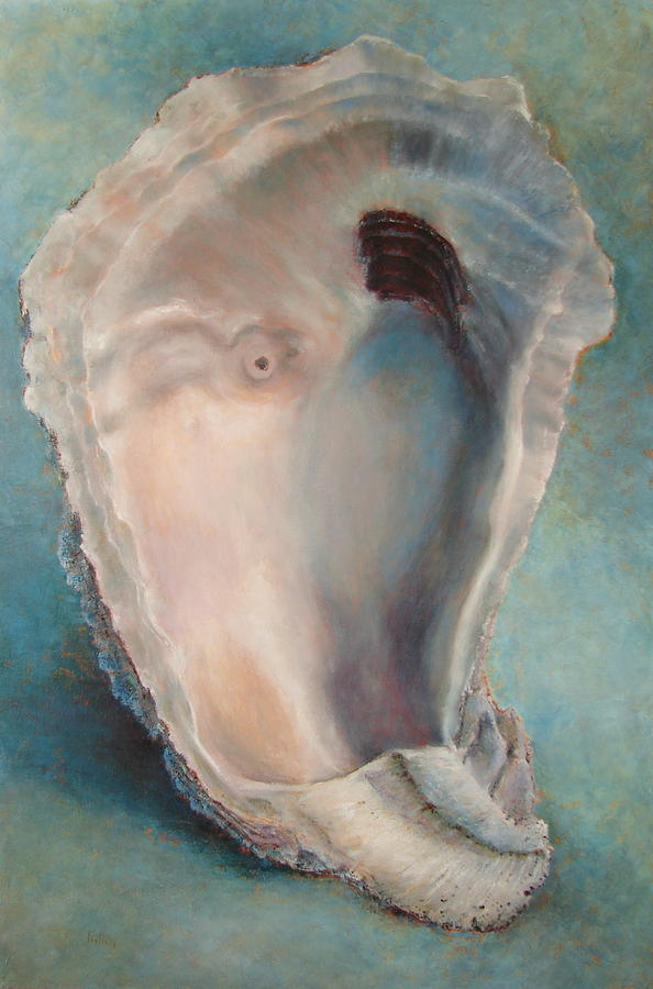 Oyster Painting - Libbys Oyster by Pam Talley