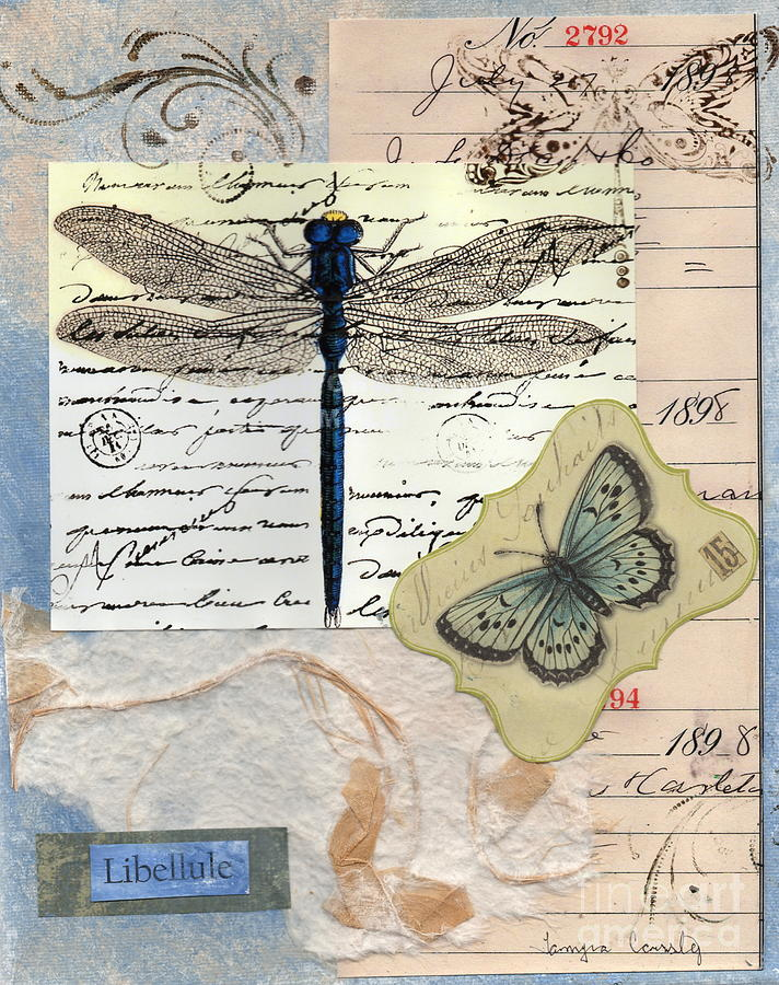 Dragonfly Painting - Libellule by Tamyra Crossley