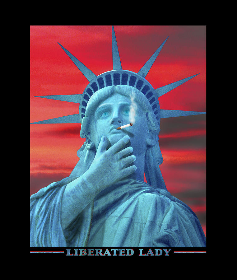 Statue Of Liberty Photograph - Liberated Lady by Mike McGlothlen