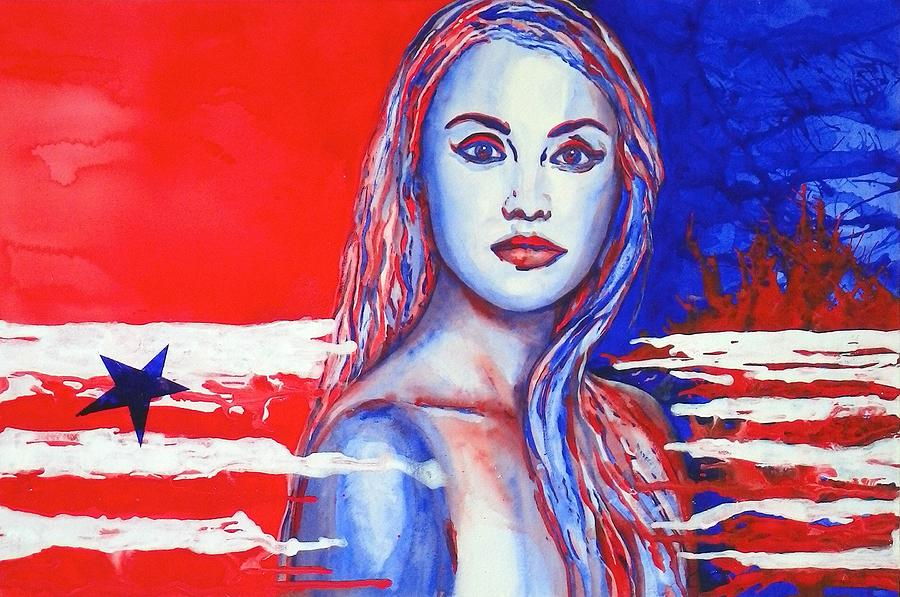 Liberty Painting - Liberty American Girl by Anna Ruzsan