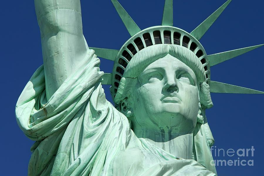 Statue Photograph - Liberty by Brian Jannsen