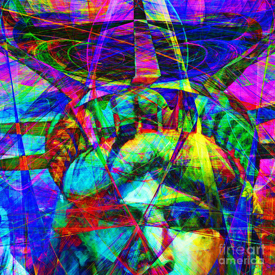 Patriotic Photograph - Liberty Head Abstract 20130618 Square by Wingsdomain Art and Photography