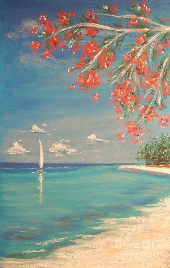 Tropical Painting - Liberty by The Beach  Dreamer