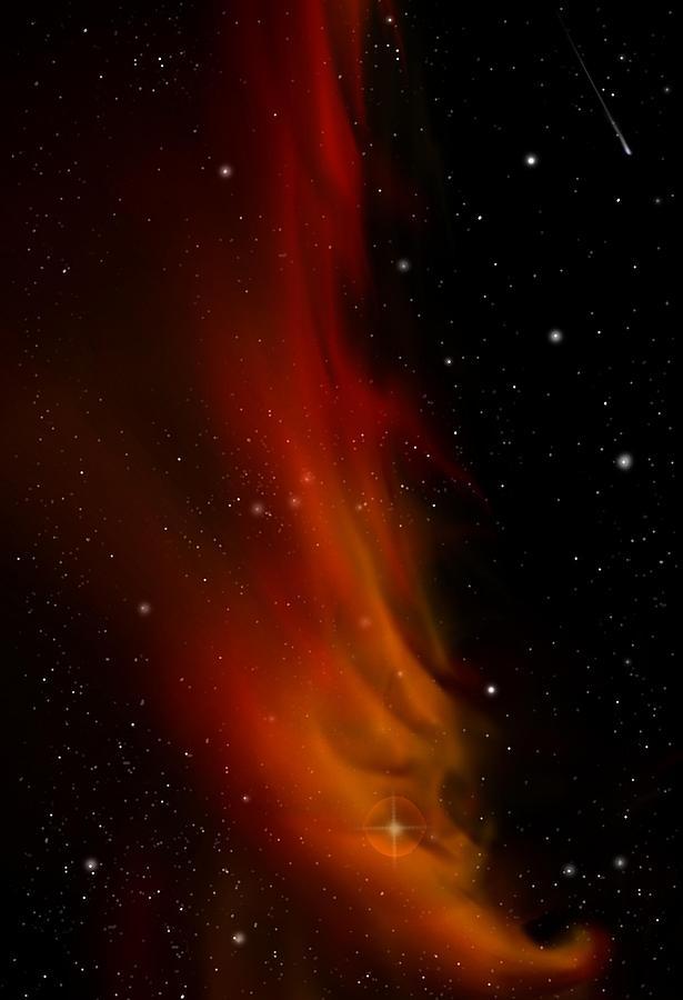 Space Digital Art - Libertys Flame Nebula by Julie Rodriguez Jones