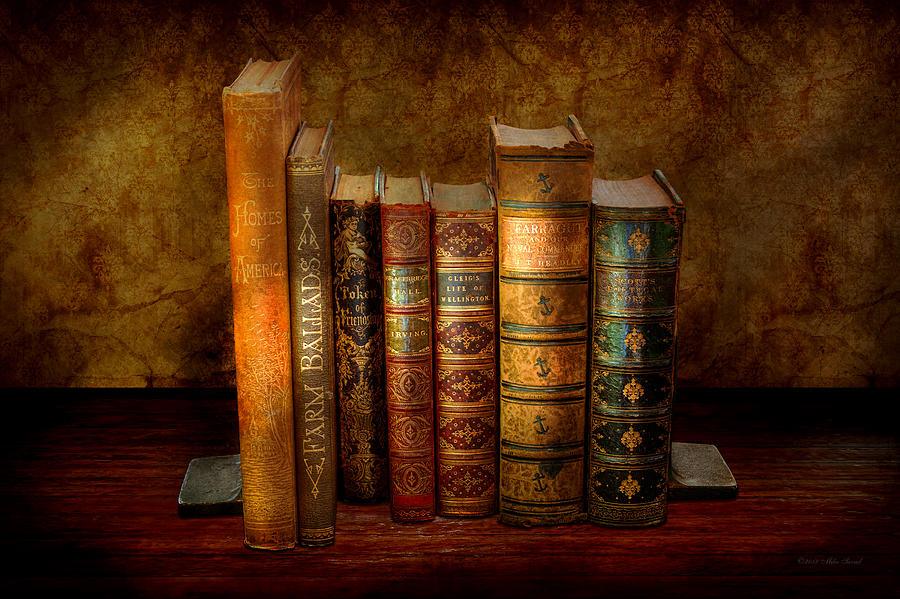 Antiquarian Photograph - Librarian - Writer - Antiquarian Books by Mike Savad