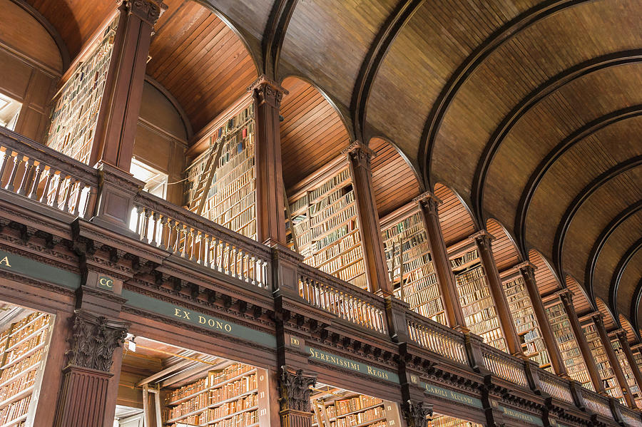 Library At Trinity College Photograph by David Madison