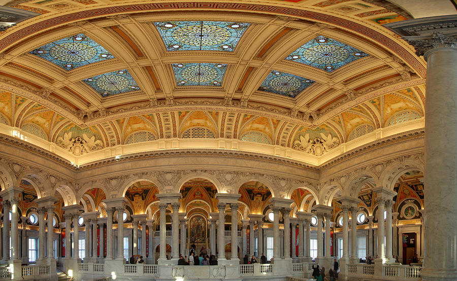 Washington Photograph - Library Of Congress - Washington Dc - 011322 by DC Photographer