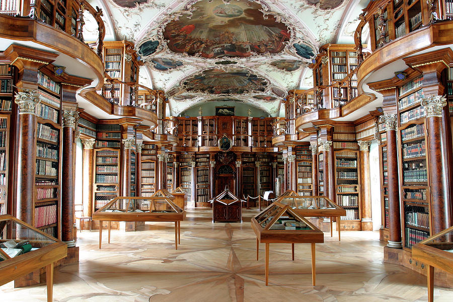 Room Photograph - Library Of St Galls Abbey by Michael Szoenyi/science Photo Library