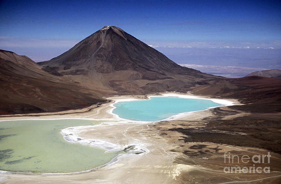 Bolivia Photograph - Licancabur Volcano And Laguna Verde by James Brunker