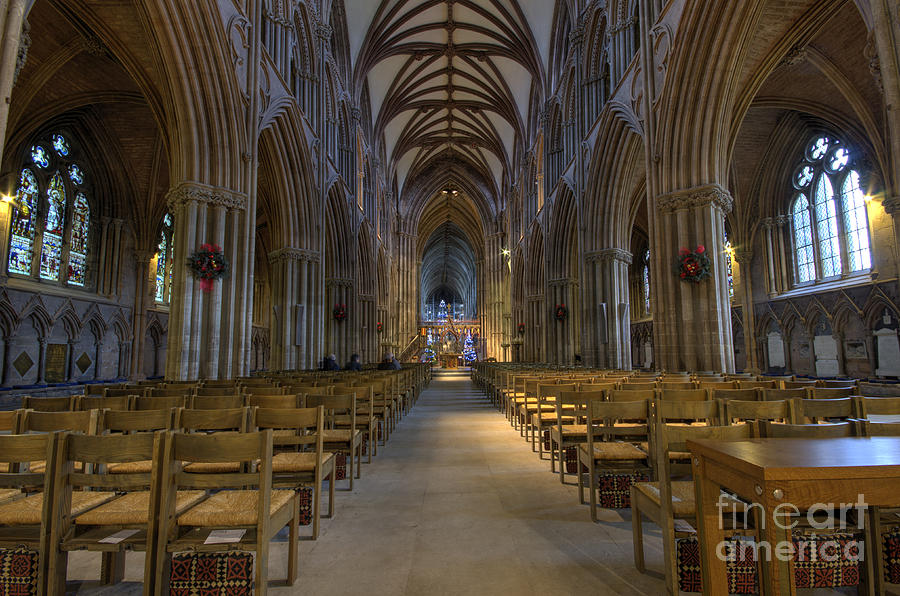 Lichfield Photograph - Lichfield cathedral 1 by Steev Stamford