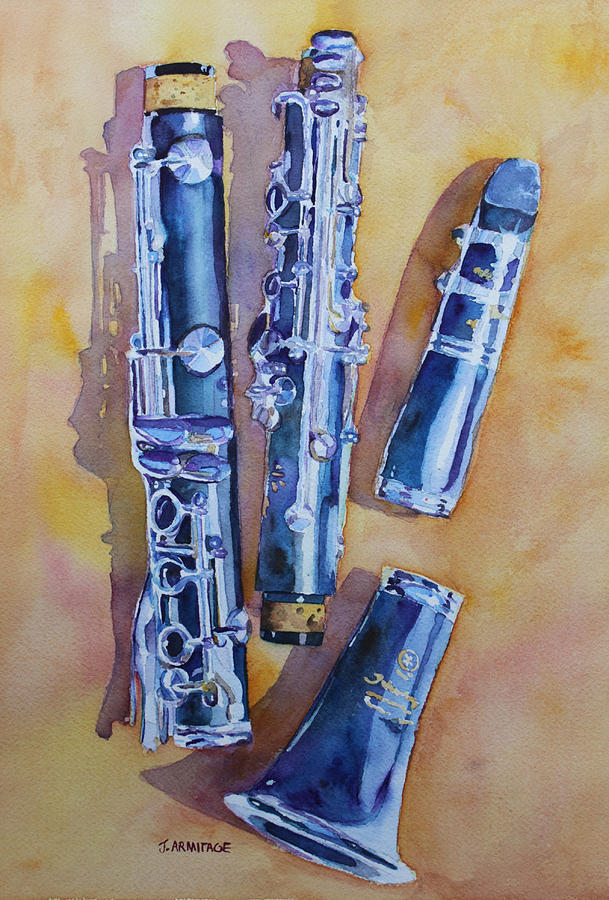 Clarinet Painting - Licorice Pieces by Jenny Armitage
