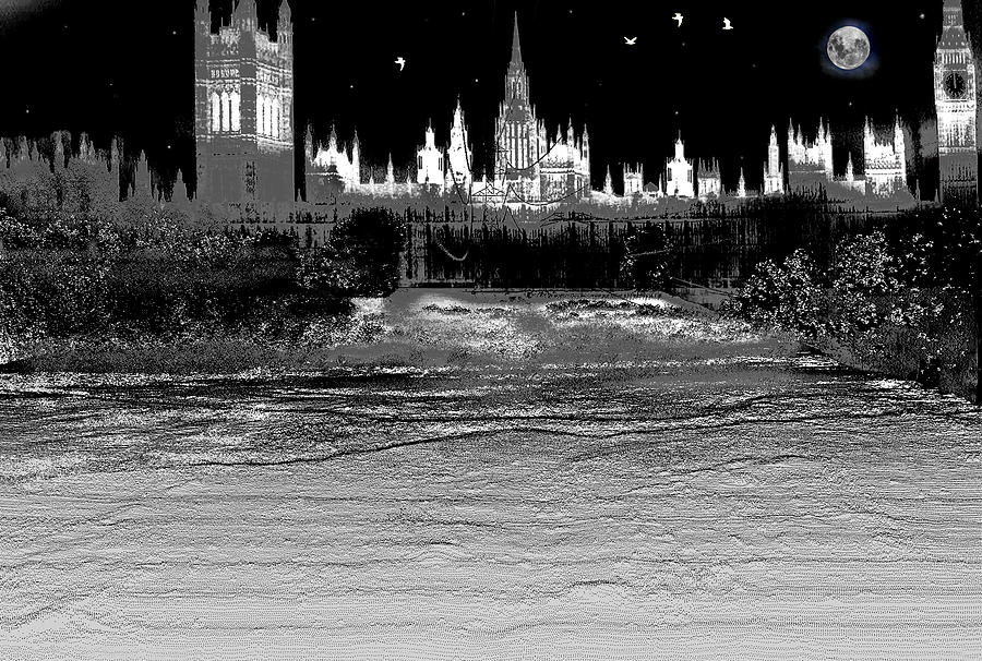 Lidar Digital Art - Scary Night by Sergio Aguayo
