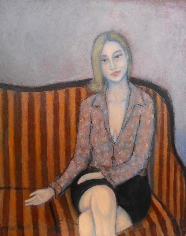 Woman Painting - Lie To Me by Massimiliano Ligabue