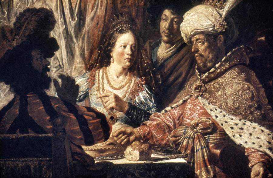 1625 Photograph - Lievans: Feast Of Esther by Granger