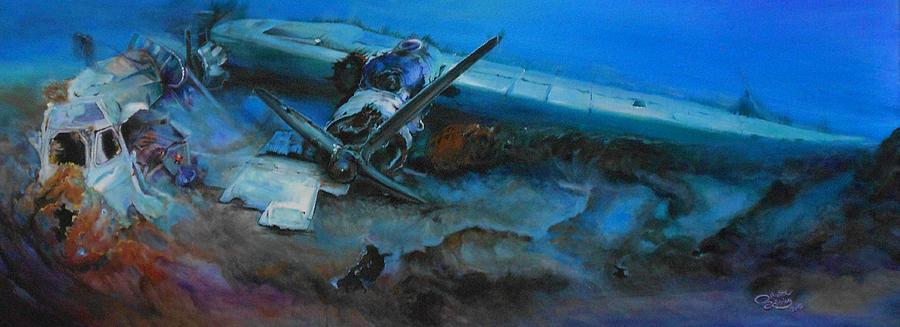 Plane Painting - Life After The Last Flight by Ottilia Zakany