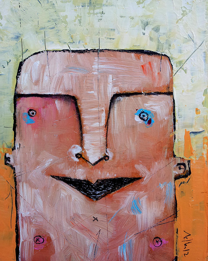 Portrait Painting - Life As Human No. 37 The Lost Tribe by Mark M  Mellon