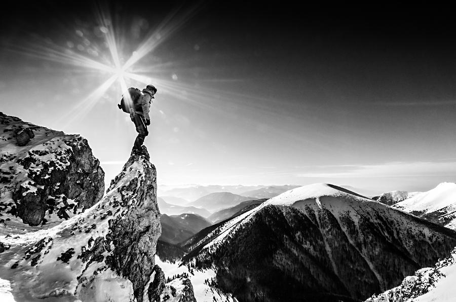 Winter Photograph - Life At The Top by Marian Krivosik