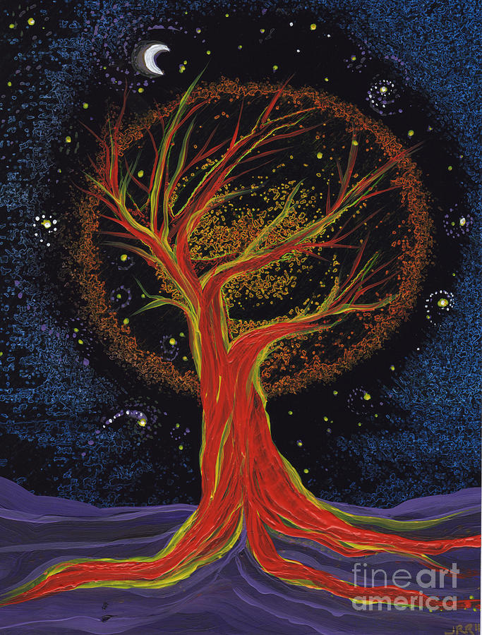 First Star Painting - Life Blood Tree By Jrr by First Star Art