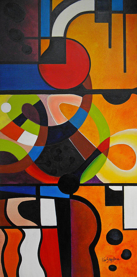 Abstract Painting - Life Digest by Ken Caffey