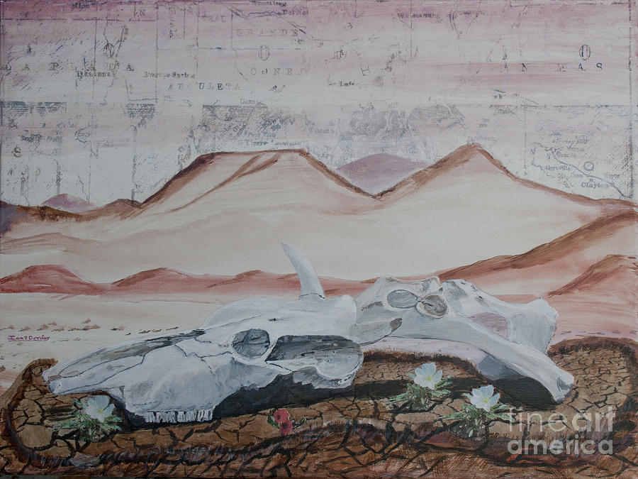 Arizona Painting - Life From Death In The Desert by Ian Donley