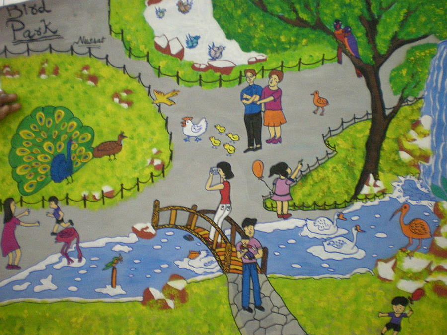 Life In A Park Painting by Syeda Ishrat