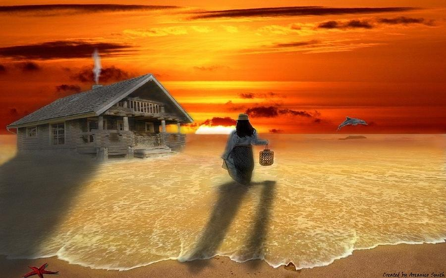 House Digital Art - Life In Relaxation by Arcanico Luca Smith Acquaviva
