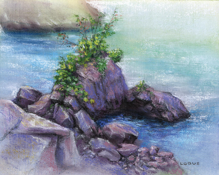Rocks Painting - Life In The Gorge by Ken Logue
