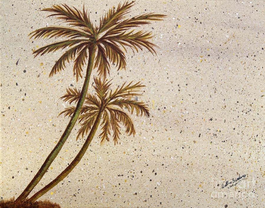 Palm Tree Painting - Life In The Midst by Debbie Broadway