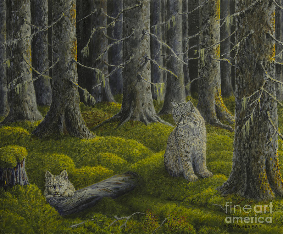 Artist Painting - Life In The Woodland by Veikko Suikkanen