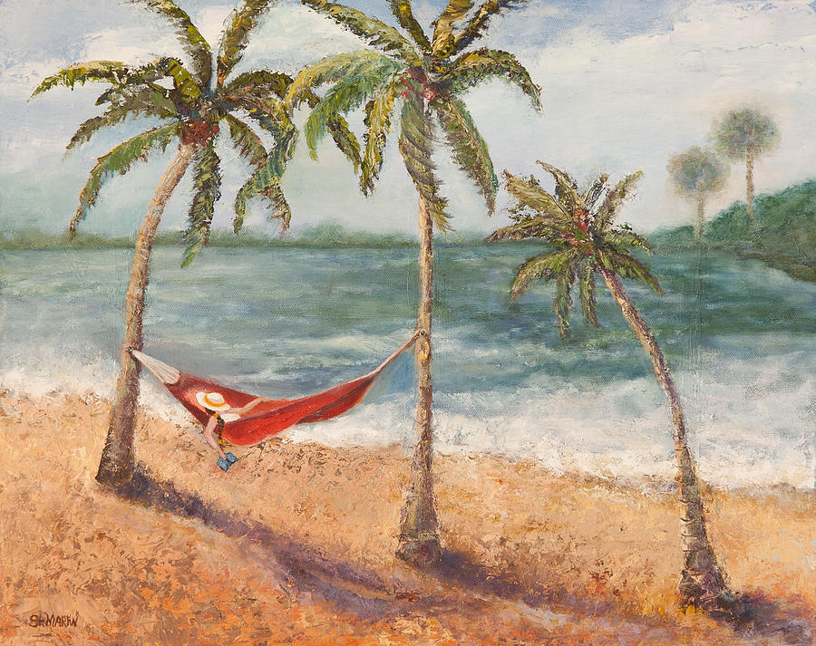 Palm Trees Painting - Life Is Good by Annie St Martin