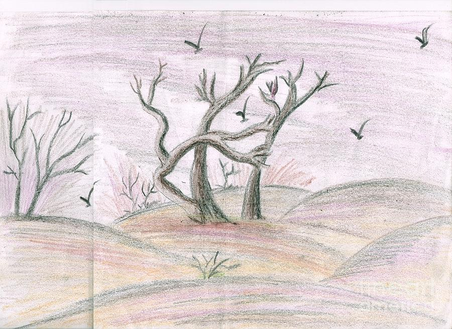 Life Of Autumn Painting by Syeda Ishrat
