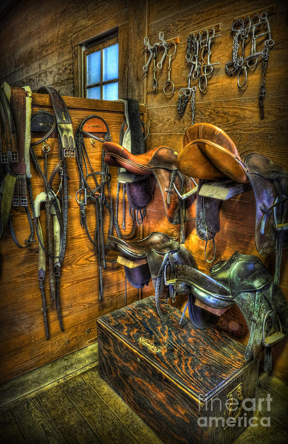 life on the ranch tack room photograph by lee dos santos rh pixels com Old Ranch Tack Rooms Tack Room Organization Ideas