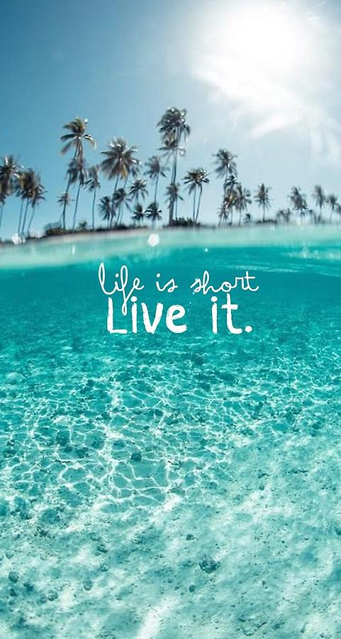 life quote cover photograph by shop caribbean - Caribbean Life