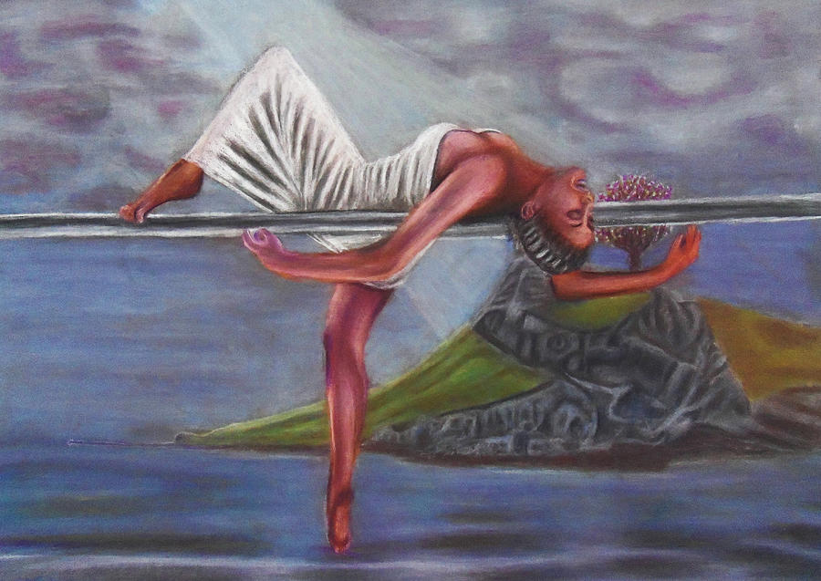 Pastel Painting - Life Requires Balance by D Rogale