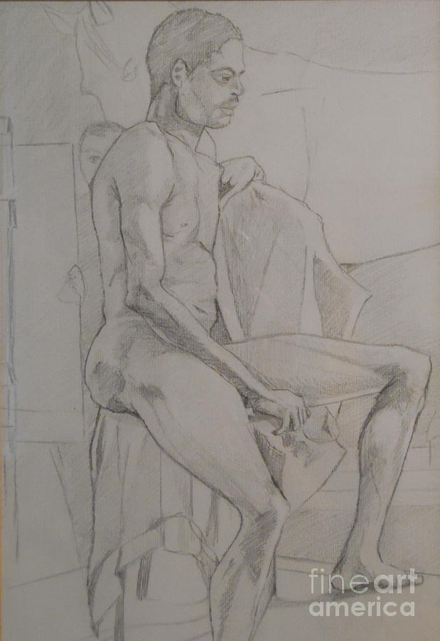 Male Drawing - Life Study Male Ballet Dancer by Michelle Deyna-Hayward