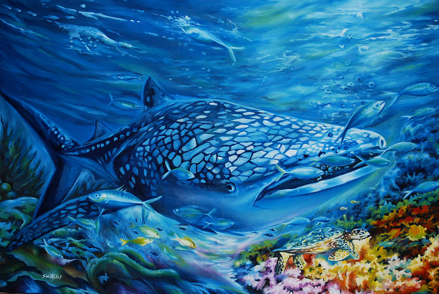 Life undersea painting by olaoluwa smith for Sea life paintings artists